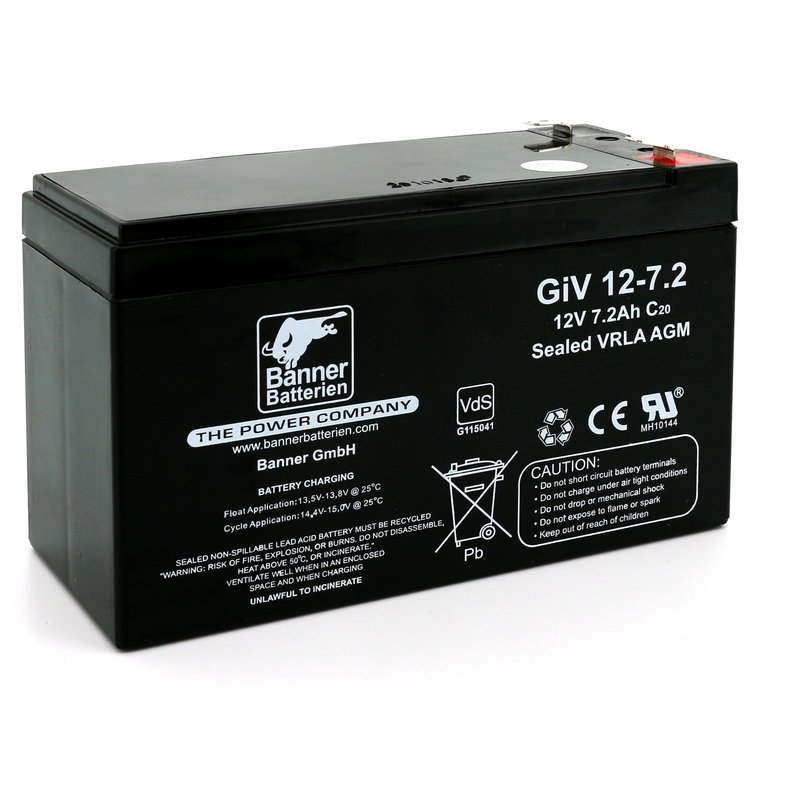 Batterie Stand by Bull 12 Volt 7,2 Ah GIV 12-7.2